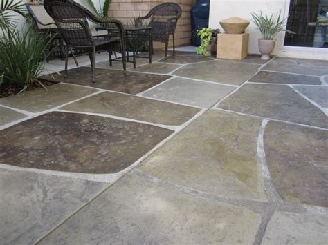 sted and colored concrete quot imported quot patio