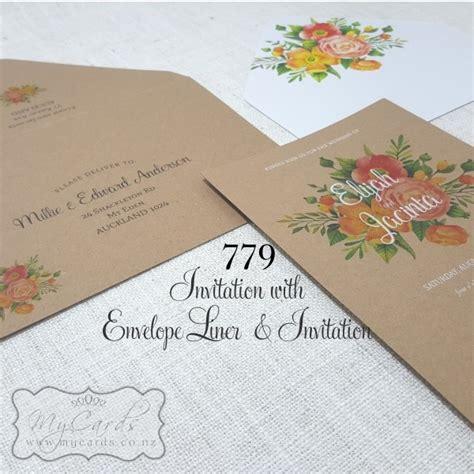 Orange Flowers Envelope Liners
