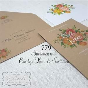 orange flowers envelope liners design 779e mycards With wedding invitation envelopes nz