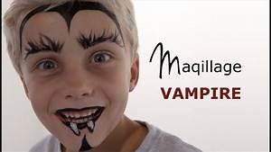 Maquillage Halloween Garcon : maquillage vampire tutoriel maquillage enfant facile ~ Melissatoandfro.com Idées de Décoration