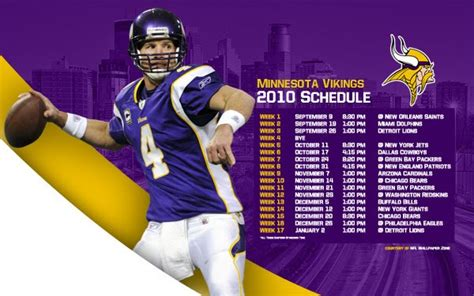nfl wallpaper zone  minnesota vikings schedule
