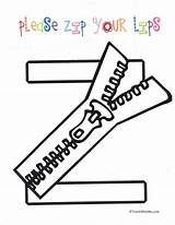 Zip Coloring Lips Anchor Charts Please Letter Crafts Classroom Preschool Letters Pages Freebies Re Alphabet Ready Zipper Ninos Ingles Craft sketch template