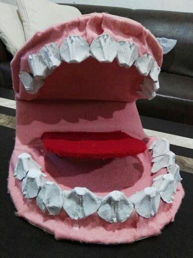 maqueta dental con cart 243 n de huevos lindas ideas