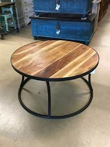 round coffee table iron and wood nadeau austin With round wood and iron coffee table