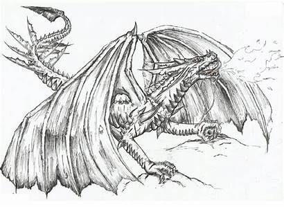 Dragon Coloring Realistic Pages Fire Breathing Wolf