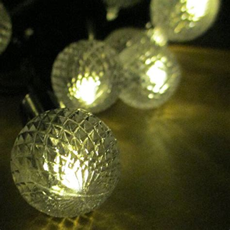 e light warm white globe string lights solar powered 30