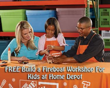 Home Depot Fireboat Workshop by Free Build A Fireboat Workshop For At Home Depot On