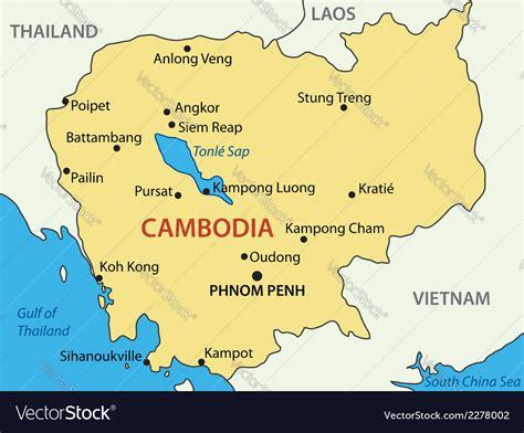 kingdom  cambodia map royalty  vector image