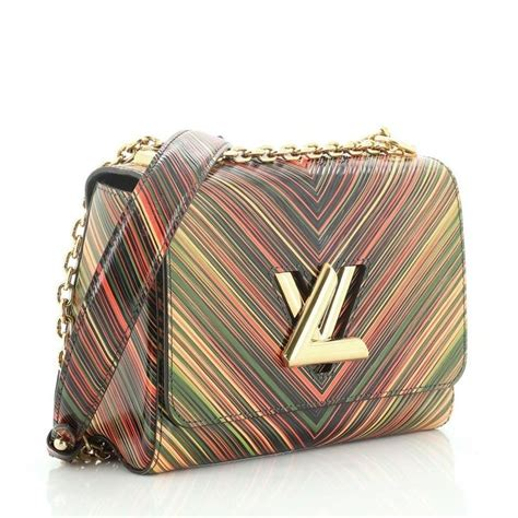 louis vuitton twist handbag limited edition tropical epi leather mm  stdibs