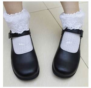 Japanese Anime miku cosplay school shoes lolita punk ...