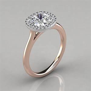 plain shank halo cushion cut engagement ring puregemsjewels With halo engagement ring with plain wedding band