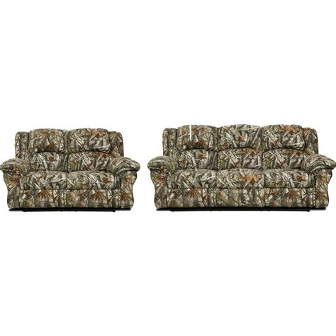 cambridge  piece camo sofa loveseat living room set apc ca  home depot
