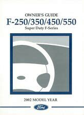 owner operator manuals  ford   super duty