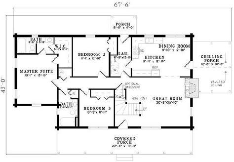5 Bedroom 3 Bathroom House Plans Plan 110 00908 5 Bedroom 3 Bath Log Home Plan
