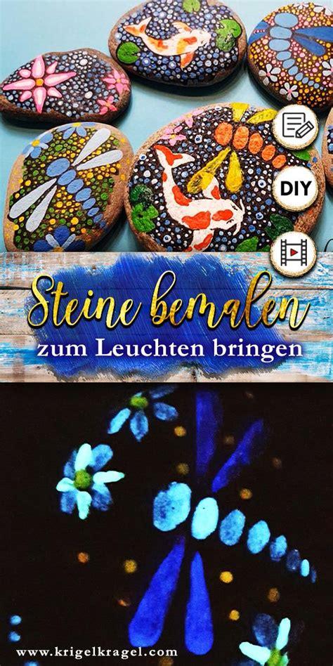 steine bemalen mit acrylfarbe steine bemalen mit malanleitung f 252 r acrylfarbe und leuchtfarben deko die im dunkeln leuchtet