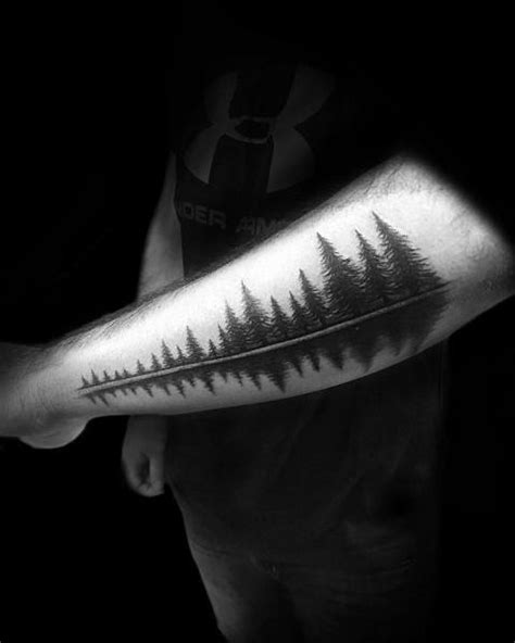 50 Tree Line Tattoo Design Ideas For Men - Timberline Ink