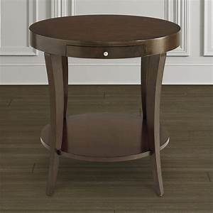 round lamp table with pullout shelf With lamp table focus on furniture