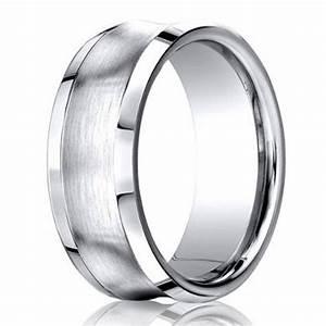 Designer Wedding Ring For Men In Cobalt Chrome Concave 7mm