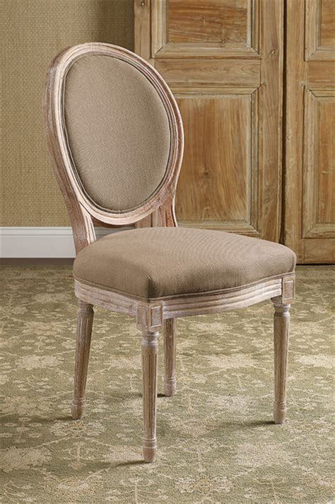 oval back bergere side chair rustic dining chairs