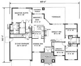 one story open house plans one story home 6994 4 bedrooms and 2 5 baths