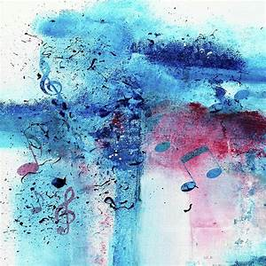 Abstract Acrylic Painting Music Notes II Painting by ...