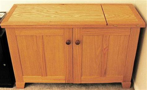 elusive solid wood sewing cabinet