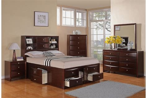 bedroom light wood king size beds for with rug and dresser