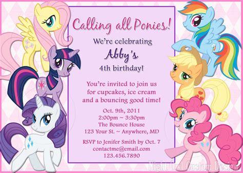 pony birthday invitation diy