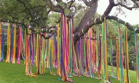 colorful streamer tree mexican party fiesta decorations