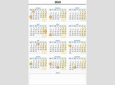 FREE Monthly & Yearly Excel Calendar Template 2019 and