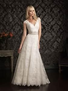 vintage lace wedding dresses cap sleeves ipunya With vintage lace wedding dresses with sleeves