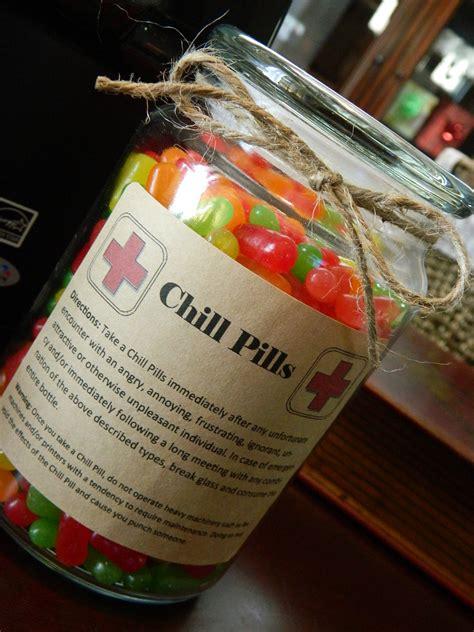 novelty 24 oz bottle of chill pills gag gift for by