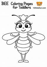 Bee Coloring Pages Worksheets Printables Game Fun Queen Print 123kidsfun Toddlers Tracing Activity Puzzle Activities Cool Educational Games Artykuł Alphabet sketch template