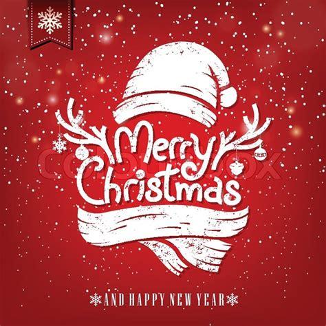 christmas greeting card  chalk stock vector