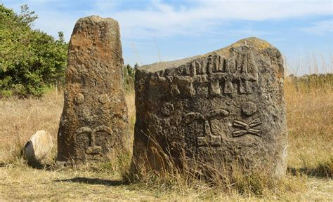 intricately carved tiya megaliths  ethiopia