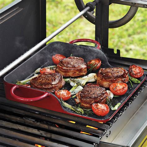 outdoor cuisine la plancha cast iron griddle the green
