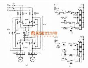 Two Motors Starting Circuit With Autotransformer