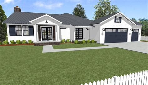 handsome ranch home  expansion possibility sc architectural designs house plans