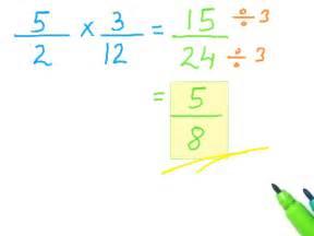 Multiplying Fractions Steps