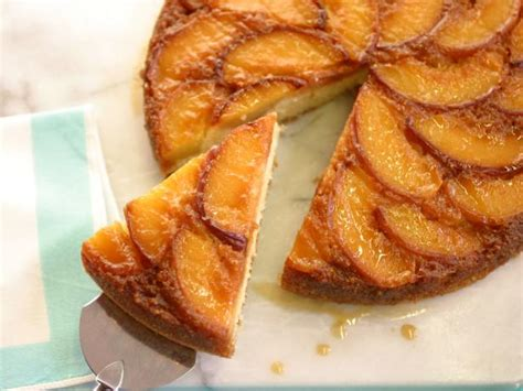 caramel peach upside  cake recipe food network
