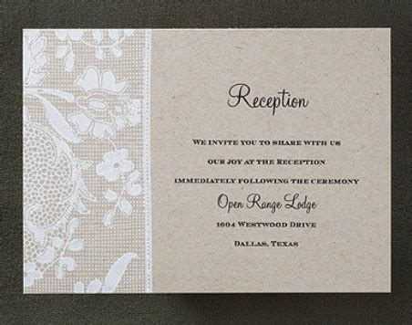 wedding ceremony and reception at different locations what is a reception card weddings for a living