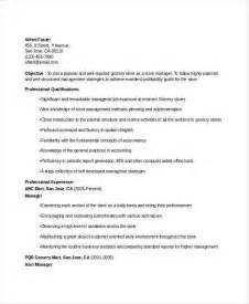 Grocery Store Manager Resume Skills by Manager Resume Sle Templates 43 Free Word Pdf