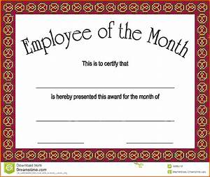 Employee Certificate Templates Free Employee Of The Month CertificatesReference Letters Words Reference Letters Words