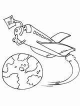 Spaceship Navette Spatiale Transport Coloring Coloriage Transportation Kb Coloriages sketch template