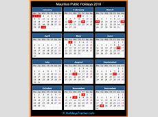 Mauritius Public Holidays 2018 – Holidays Tracker