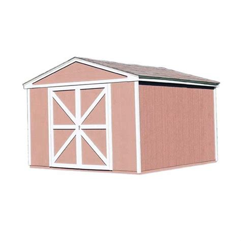 Home Depot Storage Sheds Kits by Handy Home Products Somerset 10 Ft X 12 Ft Wood Storage
