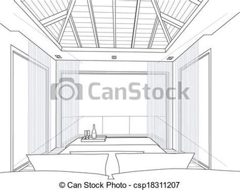 croquis chambre a coucher vecteur croquis conception intérieur chambre à