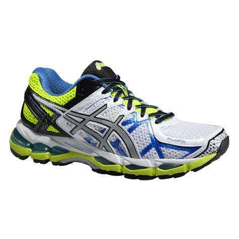 Kasut Asics Gel Kayano asics womens gel kayano 21 running shoes white yellow