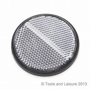 Round CLEAR Self Adhesive Reflector Tools & Leisure