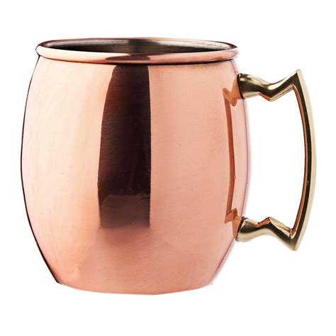 moscow mule mugs original moscow mule mug copper 16 fl oz in copper brushed nickel